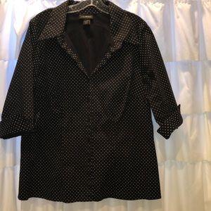 Cute cuffed sleeve Lane Bryant button down! Shirt